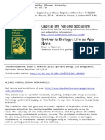 Capitalism Nature Socialism Volume 23 Issue 1 2012 [Doi 10.1080_10455752.2011.648832] Newman, Stuart a. -- Synthetic Biology- Life as App Store