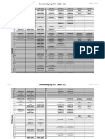TIMETABLE ME + CE SPRING 2015