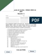 TALLER 1 Sistema Integrado de Gestión OHSAS 18001 - 2007 (1)
