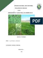 CALCULOS Asociacion de Especies Forrajeras Altoandinas