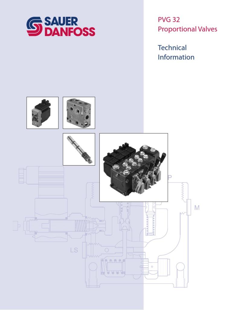 PVG 32 Proportional Valves Technical Information   Valve   Pump Danfoss Pvg Wiring Diagram on