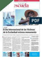 El Día Internacional de las Víctimas de la Esclavitud estrena monumento. LVE. 25.03.2015