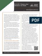 Prof Greg Fry - Recapturing the Spirit of 1971 - SSGM Discussion Paper 2015:3 - ANU