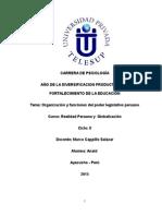 Organización y Funciones Del Legislativo