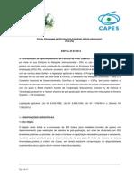 Edital para Doutorado