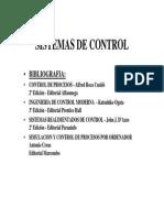 Bibliografía Sistemas de Control