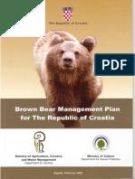 Croatian Bear Action Plan 2005