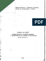 Cadafe Nt-dv-00!03!14 Normalizacion de Calibre Primarios y Secundarios en El Sistema de Distribución.