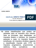 AULAS_ FAN_ TRIBUT+üRIO_ Classificão dos IMPOSTOS e HIPOTESE DE INCIDENCIA PARA ENVIAR