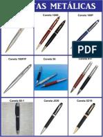 canetas metalicas