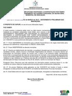 Edital 004 - Processo Seletivo 2015 - Resultado Preliminar Inscricao