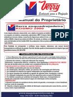 Manual Da Serra Circular Esquadrejadeira Com Eixo Inclinavel Sem Motor, Koemo 2900- Verry