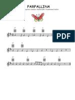 Farfallina - Partition Pour Guitare