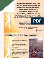 Portafolio de Evaluación, experiencia de ITEP