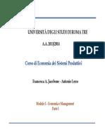 Economia dei Sistemi Produttivi 01 Lez 1a - Economia&Management