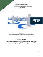 Economia dei Sistemi Produttivi 03 Dispensa 1 2014