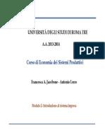 Economia dei Sistemi Produttivi 05 Intro Sistema Impresa ESP 2014