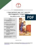 Dossier del Comilva sui danni da vaccini