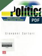 La Política. Lógica y Método en Ciencias Sociales