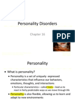 Abnormal Psychology Chapter 16 - Personality Disorders