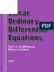 Linear Ordinary differential ecuactions Coddington Carlson