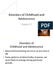 Abnormal Psychology Chapter 17 - Disorders of Childhood and Adolescence