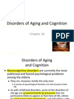 Abnormal Psychology Chapter 18 - Disorders of Aging and Cognition