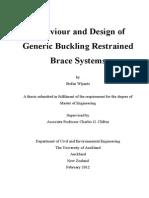 374 Behaviour Design Generic Buckling Restrained Brace Systems(1of2)