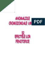 ANOMALIILE CROMOZOMIALE UMANE