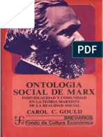 Gould Carol. Ontología Social de Marx.
