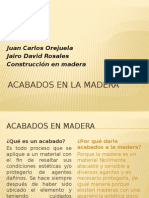Exposicion Acabados en Madera