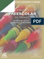 INEE La Educación Preescolar en México Condiciones Para