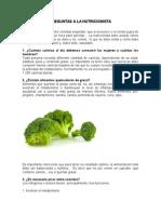 Preguntas a La Nutricionista
