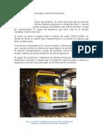 Informe Bomba de Espumogeno Camión de Bomberos