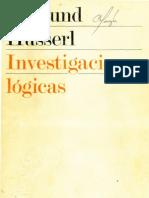 Investigaciones Logicas - Husserl