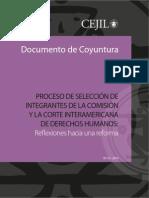 Proceso de selección de integrantes de la Comisión y la Corte Interamericana de Derechos Humanos