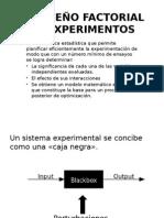 Diseño Factorial de Experimentos