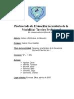 Marco Teórico Régimen de Pasantías - En Argentina