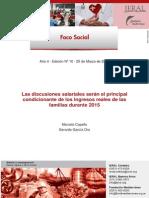 Foco Social Nº 10 - Las Discusiones Salariales Serán El Principal Condicionante de Los Ingresos Reales de Las Familias Durante 2015