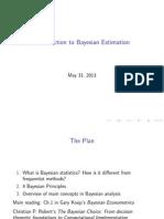 Baysian-Slides 16 Bayes Intro
