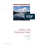Ed Tech 592 Rationale Paper