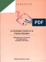 La Diversidad Cultural en La Practica Educativa
