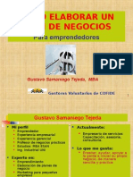 Elaboracion Del Plan de Negocios Gustavo Samaniego
