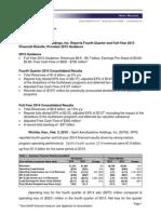 SPR_2014 Q4 Earnings Release.pdf
