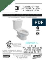 guia mecanica WC Tanque