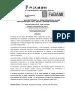 COMPROBACION EXPERIMENTAL DE INFLUENCIA DEL ALABE REGULADOR DE CAUDAL EN UNA TURBINA TIPO BANKI