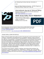 What is Cultural Policy Research