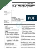 Nbr 5425 Nb 309 - Guia Para Inspecao Por Amostragem No Controle E Certificacao de Qualidade