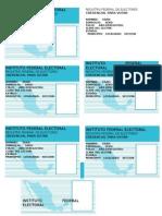 Credenciales de Elector formacion civica y etica
