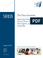 Three Essentials to Improving Schools